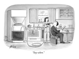 """""""Say when."""" - New Yorker Cartoon Premium Giclee Print by Harry Bliss"""