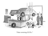 """I hate retraining C.E.O.s."" - New Yorker Cartoon Premium Giclee Print by Tom Cheney"