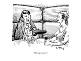 """Old yoga injury."" - New Yorker Cartoon Giclee Print by Rob Esmay"
