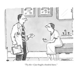 """Try this—I just bought a hundred shares."" - New Yorker Cartoon Premium Giclee Print by C. Covert Darbyshire"