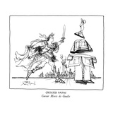 CROSSED PATHS-Caesar Meets de Gaulle - New Yorker Cartoon Premium Giclee Print by Ronald Searle