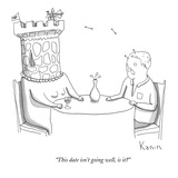 """This date isn't going well, is it"" - New Yorker Cartoon Premium Giclee Print by Zachary Kanin"