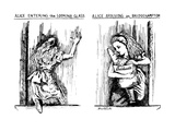 Alice Entering the Looking Glass-Alice Arriving in Bridgehampton - New Yorker Cartoon Premium Giclee Print by Stuart Leeds