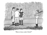 """Want to know what I think"" - New Yorker Cartoon Premium Giclee Print by Jason Patterson"