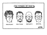 Adolescence, Adulthood, Maturity, Denial - New Yorker Cartoon Giclee Print by Ward Sutton