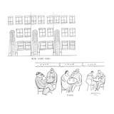New York and—  Paris - New Yorker Cartoon Premium Giclee Print by Abe Birnbaum