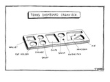 Dashboard organizer with spaces for wallet, cup holder, change, snuff, chi… - New Yorker Cartoon Premium Giclee Print by Matthew Diffee