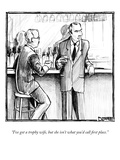 """I've got a trophy wife, but she isn't what you'd call first place."" - New Yorker Cartoon Premium Giclee Print by Matthew Diffee"