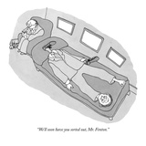 """We'll soon have you sorted out, Mr. Fenton."" - New Yorker Cartoon Premium Giclee Print by Gahan Wilson"