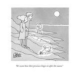 """It's sweet how their presences linger on after the season."" - New Yorker Cartoon Premium Giclee Print by Gahan Wilson"