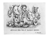 """Late in Life, Noah took up taxidermy and beer."" - New Yorker Cartoon Premium Giclee Print by Arthur Geisert"