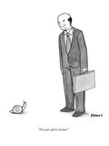"""I'm your spirit animal."" - New Yorker Cartoon Regular Giclee Print by Sam Means"