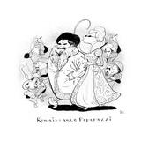 Renaissance Paparazzi - New Yorker Cartoon Premium Giclee Print by Steve Brodner