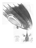 Happening of the Future-A Zeppelin bound for the Empire State Building run - New Yorker Cartoon Premium Giclee Print by Garrett Price