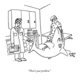 """There's your problem."" - New Yorker Cartoon Premium Giclee Print by Farley Katz"
