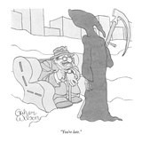 """You're late."" - New Yorker Cartoon Premium Giclee Print by Gahan Wilson"
