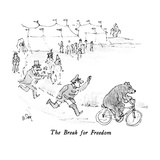 The Break for Freedom - New Yorker Cartoon Premium Giclee Print by William Steig