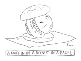 A muffin in a donut in a bagel. - New Yorker Cartoon Premium Giclee Print by Zachary Kanin
