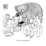 """No, this is the elephant."" - New Yorker Cartoon Premium Giclee Print by J.B. Handelsman"