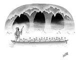 Death takes a group of turkeys through the river Styx. - New Yorker Cartoon Giclee Print by Glen Le Lievre