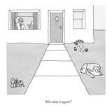 """He's done it again!"" - New Yorker Cartoon Premium Giclee Print by Gahan Wilson"