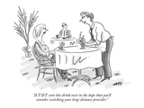 """A.T.&T. sent this drink over in the hope that you'll consider switching y…"" - New Yorker Cartoon Premium Giclee Print by Kim Warp"