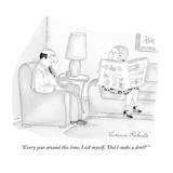 """Every year around this time, I ask myself, 'Did I make a dent' "" - New Yorker Cartoon Premium Giclee Print by Victoria Roberts"