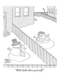 """Well, hello there yourself!"" - New Yorker Cartoon Premium Giclee Print by Gahan Wilson"
