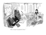 """This is the part of capitalism I hate."" - New Yorker Cartoon Premium Giclee Print by Joseph Mirachi"