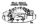 """Hells Angels, Zamboni Division"" - New Yorker Cartoon Giclee Print by Drew Dernavich"