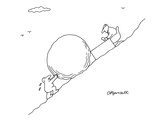 Business Sisyphus - New Yorker Cartoon Premium Giclee Print by Charles Barsotti