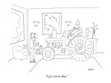 """I got it from eBay."" - New Yorker Cartoon Premium Giclee Print by Ken Krimstein"