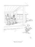 """Storm's a-brewin."" - New Yorker Cartoon Premium Giclee Print by Paul Noth"