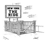 New York-THE RIDE - New Yorker Cartoon Premium Giclee Print by Tom Cheney