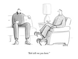 """Bob tells me you hunt."" - New Yorker Cartoon Premium Giclee Print by Julia Suits"