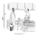 """You should relax less."" - New Yorker Cartoon Premium Giclee Print by Danny Shanahan"