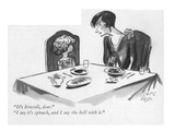 """It's broccoli, dear.""--""I say it's spinach, and I say the hell with it."" - New Yorker Cartoon Regular Giclee Print by Carl Rose"