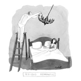 """Tedious Romantic"" - New Yorker Cartoon Premium Giclee Print by Marshall Hopkins"