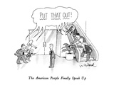 The American People Finally Speak Up - New Yorker Cartoon Giclee Print by W.B. Park