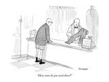 """How soon do you need these"" - New Yorker Cartoon Premium Giclee Print by Jason Patterson"