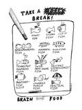 TAKE A FISH BREAK - New Yorker Cartoon Premium Giclee Print by Stephanie Skalisky