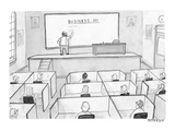 A business class in which all students are at cubicles instead of desks. - New Yorker Cartoon Premium Giclee Print by Jason Patterson