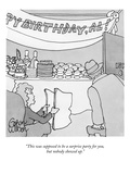 """This was supposed to be a surprise party for you, but nobody showed up."" - New Yorker Cartoon Premium Giclee Print by Gahan Wilson"