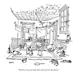 """You'll be sorry you made that crack if I win the lottery."" - New Yorker Cartoon Premium Giclee Print by George Booth"