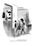 """I know more about art than you do, so I'll tell you what to like."" - New Yorker Cartoon Premium Giclee Print by Barney Tobey"
