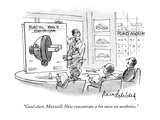 """Good start, Maxwell. Now concentrate a bit more on aesthetics."" - New Yorker Cartoon Premium Giclee Print by Mort Gerberg"