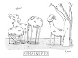 Remainders - New Yorker Cartoon Premium Giclee Print by Zachary Kanin