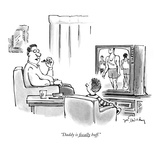 """Daddy is fiscally buff."" - New Yorker Cartoon Premium Giclee Print by Mike Twohy"
