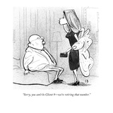 """Sorry, you can't be Client 9—we're retiring that number."" - New Yorker Cartoon Premium Giclee Print by Steve Brodner"