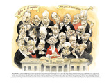 Life's a Banquet'-'Who gets to eat in the new Washington' - New Yorker Cartoon Premium Giclee Print by Steve Brodner